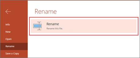 Select Rename