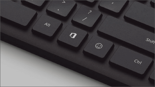 The Office key on a keyboard