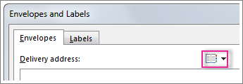 The Insert Address button in Word