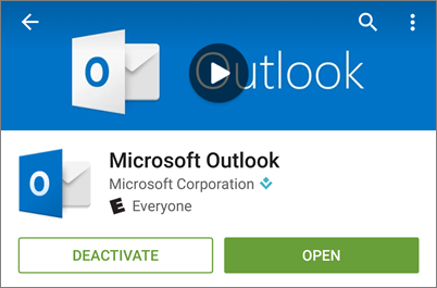 Outlook for Android app in Google Play Store