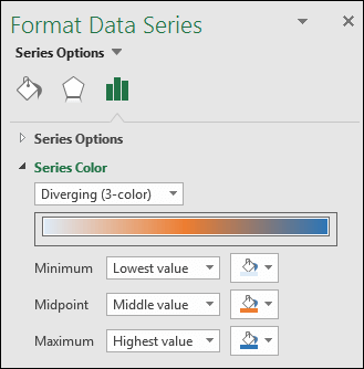 Excel Map chart Series Color options
