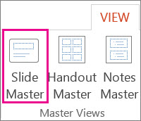 Open Slide Master View