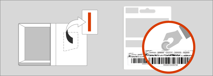Your product key is in a card in your product box or on the back of your product key card