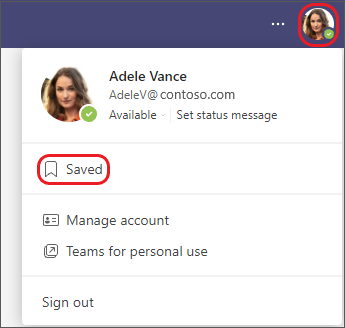 Saved messages