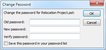 Set a password to help protect your Outlook information