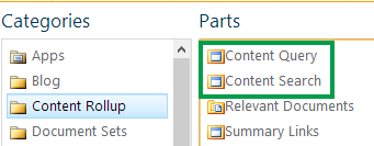 Content Query and Content Search Web Part