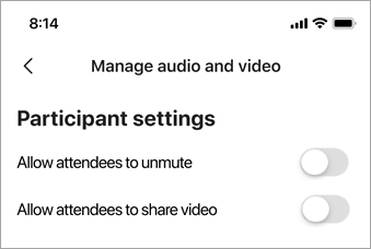 Select Allow attendees to unmute