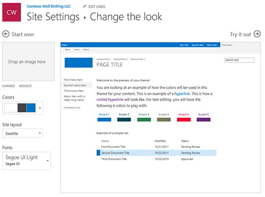 how to change the layout look on word