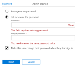 net user reset password