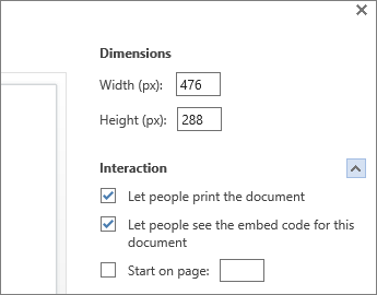 Options for embedding a Word document