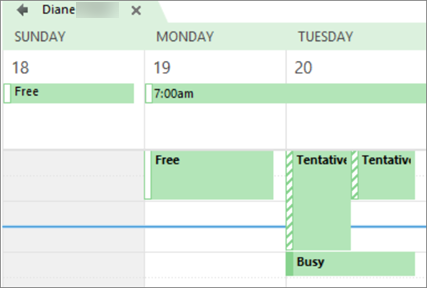 What your calendar looks like to the person you shared it with.