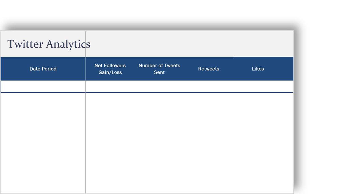 conceptual image of a social media analytics template