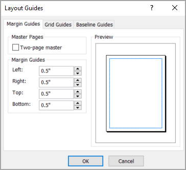Layout Guides dialog box