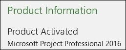 Product Information - Project Professional 2016