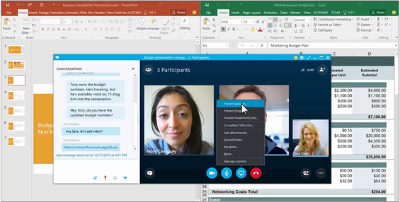 Video: Share your desktop or an app - Skype for Business