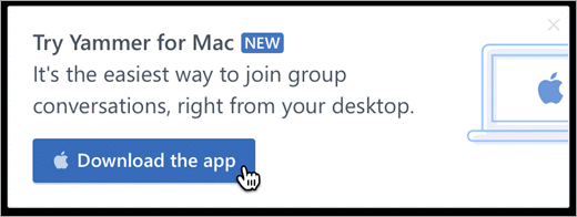 In-product messaging for Mac