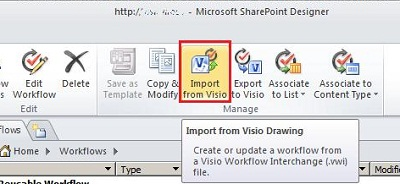 Import workflow
