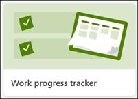 Work progress list tracker
