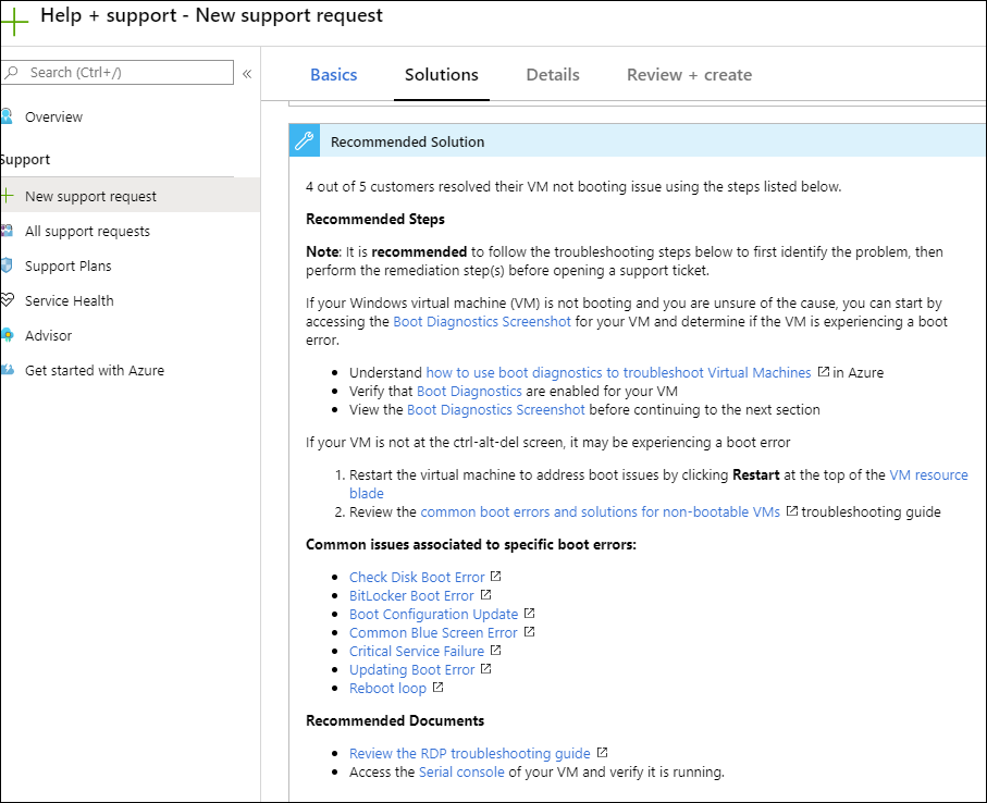 Microsoft support portals