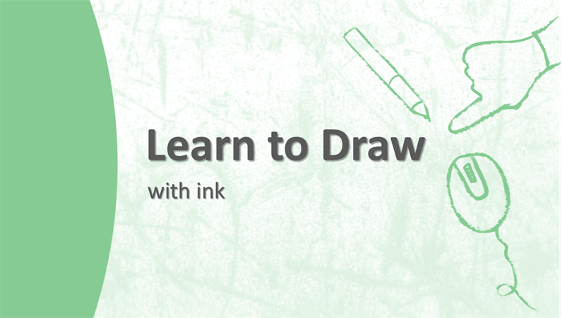illustration of a learning guide about how to draw