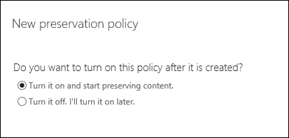 Option to turn on preservation policy