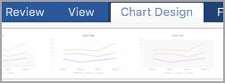 Chart Design tab