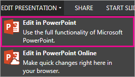 Edit in PowerPoint command