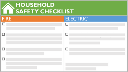 Conceptual image of a safety checklist