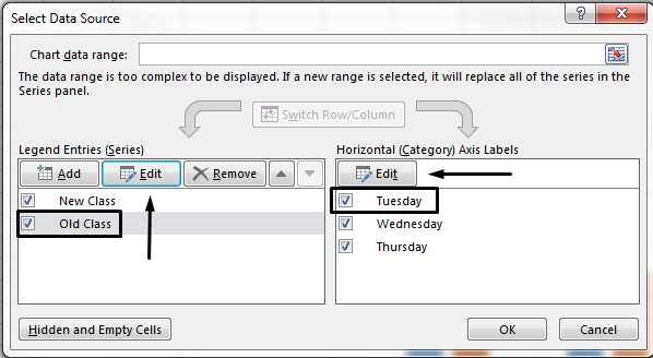You can edit the legend name in the Select Data Source dialog box.