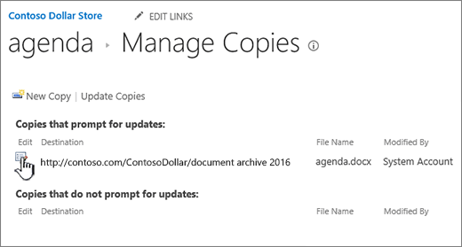 Click Edit in the manage files window
