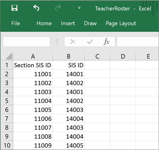 Minimum required attributes required for Teacher.csv section