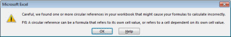 The Circular Reference error message