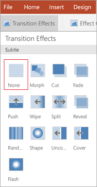 Remove transitions