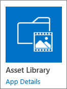 Asset Library tile