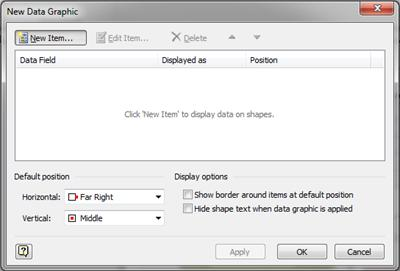 The New Graphic Data dialog box.