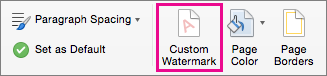 how to put a watermark on word for mac