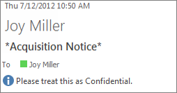 Email marked as Confidential