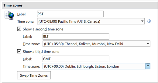 Third Time Zone Option