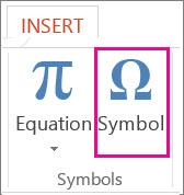 Insert a symbol