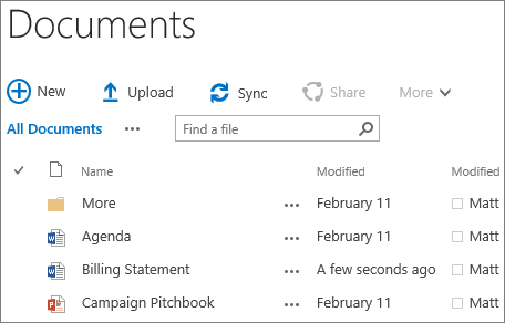 SharePoint site library