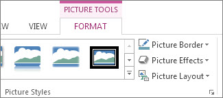 Location of Picture Tools