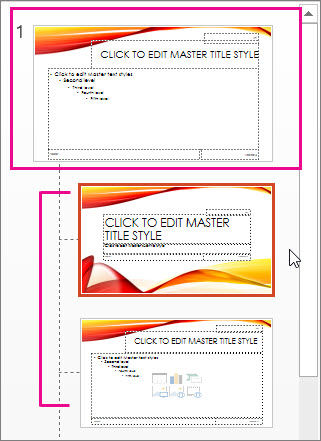 Create or customize a slide master powerpoint slide master and two layouts toneelgroepblik Choice Image
