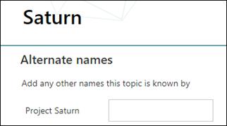 alternate names