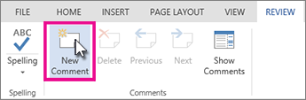 Add a new comment in edit view