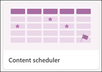 Content scheduler list template