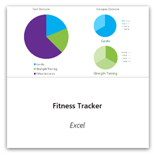 Select this to get the Fitness Tracker template.