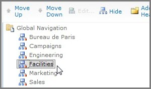 Move Global Navigation
