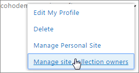 Manage personal site