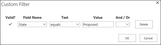 Configure the filter for Proposed resource requests