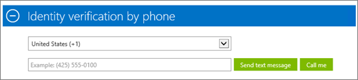 Screenshot of the Identity verification by phone section of the Azure subscription sign-up, where you provide your phone number and select to receive the confirmation code  via text message or phone call.